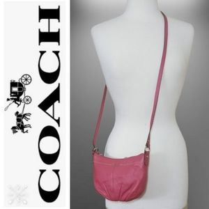 Coach Coated Leather Coral Crossbody/Shoulder Bag